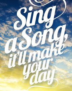 Sing A Song Quote Print Earth Wind & Fire Song by Inspireuart, $20.00