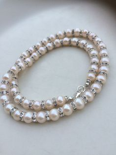 IVORY PEARL WEDDING necklace Freshwater pearl by SheRocksJewellery