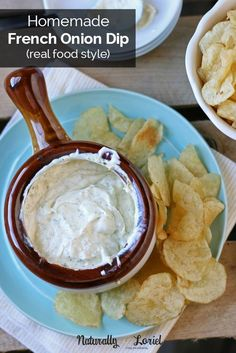 This real food style homemade french onion dip is packed full of flavor without any maltodextrin, MSG, or other junk. Super easy to make & a great gift too!