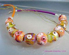 Artist handmade lampwork glass bead necklace by von manuelawutschke