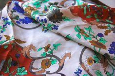 SUN KYUNG SA Vintage Silk Scarf by simplyhomesweethome on Etsy, $17.00