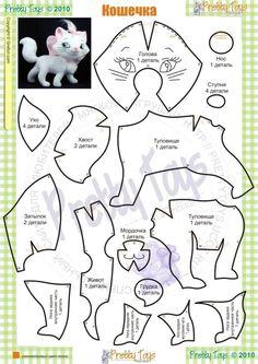 plantillas patrones de gatos gatitos - Buscar con Google