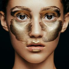 Metallic Face by Aldona Karczmarczyk & MUA Patrycja Dobrzeniecka - gold beauty