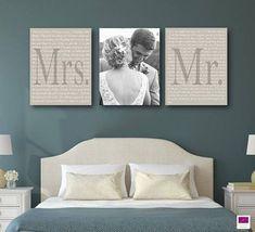 Satz von 3 Hochzeit Gelübde Leinwand, Jubiläumsgeschenk Leinwand mit Foto, ...  #gelubde #hochzeit #jubilaumsgeschenk #leinwand