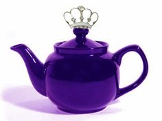 Purple Teapot since purple denotes royalty, the lid sports a crown...