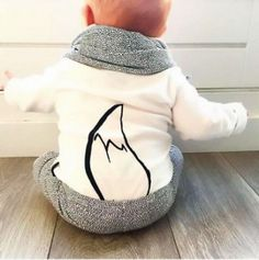 2016 wholesale spring autumn newborn baby boy girl cartoon fox tail printing…