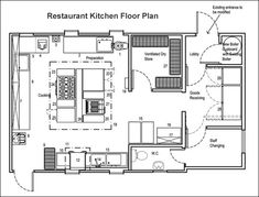 How to Choose The Right Restaurant Floor Plan for Your Restaurant Layout - On the Line | Toast POS Living Room Kitchen Layout, Kitchen Layout Plans, House Layout Plans, Kitchen Floor Plans, House Layouts, House Plans, Restaurant Floor Plan, Restaurant Kitchen Design, Restaurant Layout