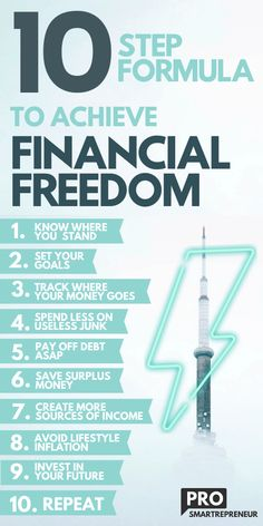 """Formula To Achieve Financial Freedom Attaining """"Financial freedom"""" is all about taking ownership of your finances. The spending, earnings, and everything in between. Learn how to achieve financial freedom and get financial planning tips. Financial Tips, Financial Planning, Freedom Financial, Financial Literacy, Financial Organization, Financial Asset, Financial Assistance, Tony Robbins, Happy Playlist"""