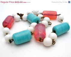 Big Sale Poured Glass Bead Vintage by TheJewelryLadysStore on Etsy, $52.00