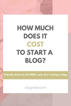how much does it cost to start a blog