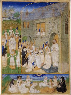 The Holy Virgins Greeted by Christ as They Enter the Gates of Paradise // ca. 1467–1470 // Simon Marmion // © The Metropolitan Museum of Art // #Jesus