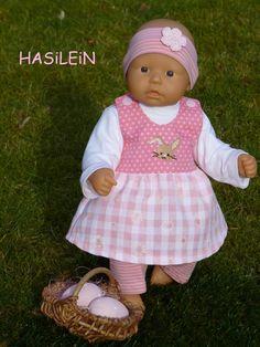 """Puppenkleidung - """"Hasilein"""" 4tlg Set Gr. 35-40cm - ein Designerstück von handgeschick bei DaWanda"""