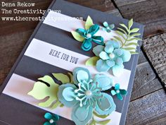 Fabulously Awesome Card using Stampin Up's Botanical Blooms Stamp Set and coordinating Framelits.  Details on my blog with links to buy