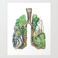 Amazon Lungs Art Print