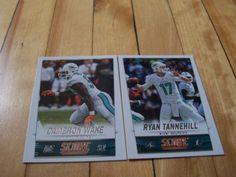 CAMERON-WAKE-RYAN-TANNEHILL-2014-Score-Miami-Dolphins-2-Card-Lot #MiamiDolphins #NFL #footballcards