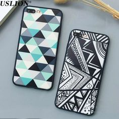 Luxury Geometry Triangle Hard PC Phone Cases For Apple iPhone 7 6 6s 5 5s SE Plus Back Cover Case Capa Coque Fundas For iPhone 7