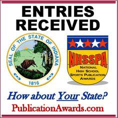 Facebook graphic promoting www.PublicationAwards.com National High School, Sports Awards, Facebook, Words, Horse