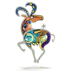 Seeka Fiery Aries The Ram Zodiac Pin From The Artazia Collection P0901  Price : $78.00 Http