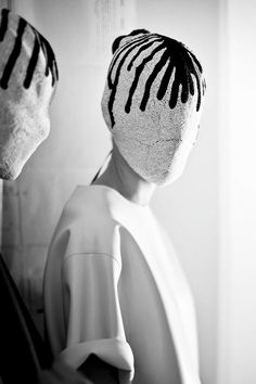 66lanvin:  hauteinnocence:  Maison Martin Margiela FW 2013  STRANGE I've SEEN that FACE before…………No.30