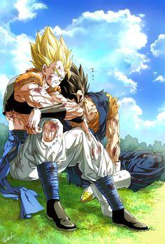 Tags: Fanart, DRAGON BALL, Vegeta, Son Goku (DRAGON BALL), Pixiv, Vegito, Gogeta, Fanart From Pixiv, Pixiv Id 9040790