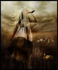 Sif is the Norse Goddess of the grain, who is a prophetess, and the beautiful golden-haired wife ofThor,