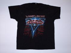 Vintage Vinnie Vincent Invasion Tour Shirt 1986 KISS L | eBay