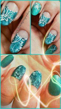 Marbré bleu et Stamping