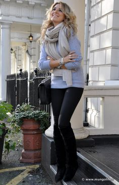 pants -  H, boots - mums oldies,   bag - Chanel,sweater - H, scarf - Zara.