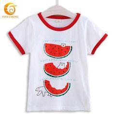 2015 High Quality T Shirt For Boys And Girls Cotton Watermelon Pattern Children T Shirts Moda Infantil Roupas De Crianca