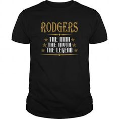 I Love  RODGERS THE MAN THE MYTH THE LEGEND T-SHIRTS Shirts & Tees