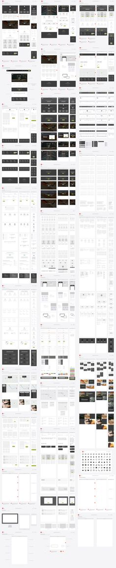 Responsive Website Wireframe Kit by UX Kits on Creative Market #ResponsiveWebDesign