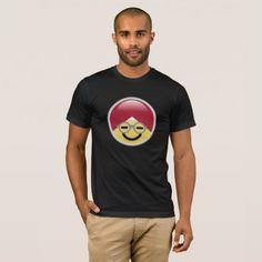 #Dr. Social Media Smiley Turban Emoji T-Shirt - #emoji #emojis #smiley #smilies