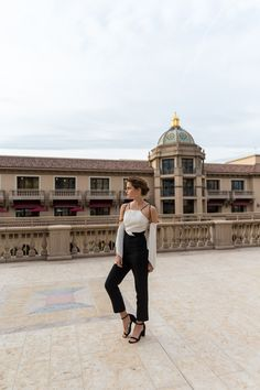 Jumpsuit: Rolan Mouret | Shoes: Susi Studio | Jewellery: Article 22 | More info here: http://po.st/thepresstour11