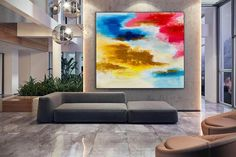 Large Abstract Art-Original Painting Dine Room Wall Art image 1 Extra Large Wall Art, Large Artwork, Original Paintings, Original Art, Texture Art, Art Day, Art Images, Abstract Art, Canvas Art
