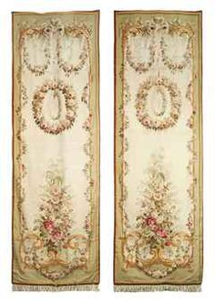 A PAIR OF NAPOLEON III AUBUSSON TAPESTRY ENTRE-FENETRES