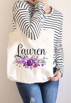 1 pc custom text name phrase quote Personalized tote bag for birthday bachelorette party bride to be bridesmaids Future Mrs tote canvas bag