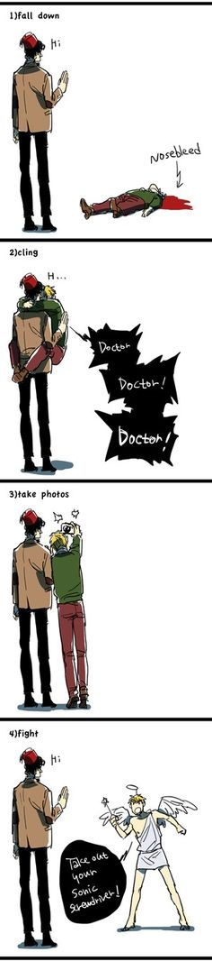 Hetalia / Doctor Who ~~ England, you fanboy.- I didn't realize it was iggy til the last one haha