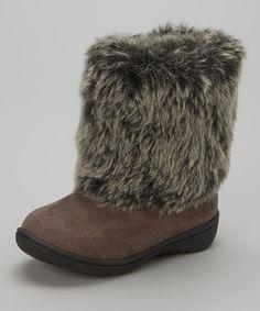 Carter's Gray Fluffy Boot by Carter's #zulily #zulilyfinds