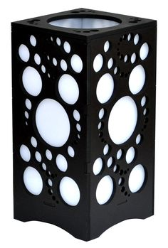 Bubbles Lamp Black, White or Brown Black Lamps, Tissue Holders, Facial Tissue, Bubbles, Arts And Crafts, Black White, Brown, Black And White, Black N White