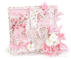 """Today I'm sharing a feminine card that could be used for any occasion, featuring the gorgeous papers from the Pion Design collection """"My Dearest Sofia"""". I never get tired of all t… Pretty Cards, Cute Cards, Vintage Crafts, Vintage Paper, Paper Design, Design Cards, Card Designs, Tattered Lace Cards, Card Creator"""