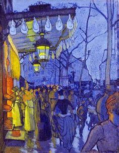 """GAUGUIN: """"Avenue de Clichy, » 1887, París"""