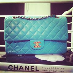 BAG LOVE Chanel Tiffany Blue 2.55 'Limited Edition' Lambskin Flap Bag found on Polyvore