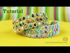 Beaded Bracelet Tutorial   Macrame School - YouTube