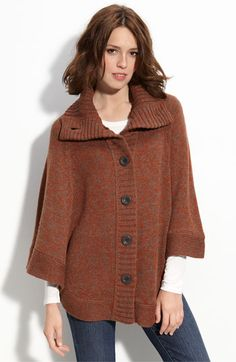 Free shipping and returns on Caslon® Marled Poncho at Nordstrom.com. Soft marled yarns create the heathery pattern of a button-front poncho topped with a tall, cozy collar.