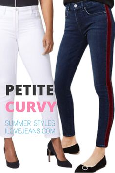 Ilovejeans.com is the place to find the best styles of jeans for your Petite Curvy body type. Lots of choices you'll be wanting to wear! petite curvy fashion, best jeans for curvy petite, summers, summer jeans outfit curvy.