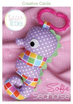 Sophie Seahorse Creative Card by braidcraft on Etsy https://www.etsy.com/listing/153345321/sophie-seahorse-creative-card