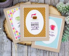 Hello again! I'm back with more cards using the fabulous Simon Says Stamp February Card Kit - Coffee, Tea, and Cocoa ! Today I used sentim...