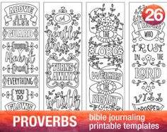 JOSHUA - 4 Bible journaling printable templates, instant download illustrated christian faith bookmarks, black and white prayer journal bible verse traceable stencils, bible stickers.  ♥ Joshua 1:5 Be strong and of good courage... ♥ Joshua 10:13 So the sun stood still, And the moon stopped. ♥ Joshua 23:14 And you know in all your hearts and in all your souls... ♥ Joshua 24:15 Choose for yourselves this day whom you will serve...  This set is included in BUNDLE 4: http://etsy.me/2dIhkdZ  This…