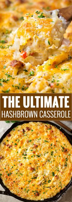 The Ultimate Hashbrown Casserole This classic side or potluck dish is made with no Hashbrown Breakfast Casserole, Hash Brown Casserole, Casserole Dishes, Casserole Recipes, Brunch Casserole, Breakfast Casseroles With Hashbrowns, Slow Cooker Hashbrown Casserole, Doritos Casserole, Casserole Ideas