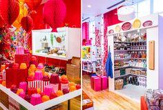 Christmas - The Conran Shop 2014 Honeycomb Decorations, Christmas 2014, Commercial Design, Retail Design, Visual Merchandising, Restaurants, Shops, Lily, Windows